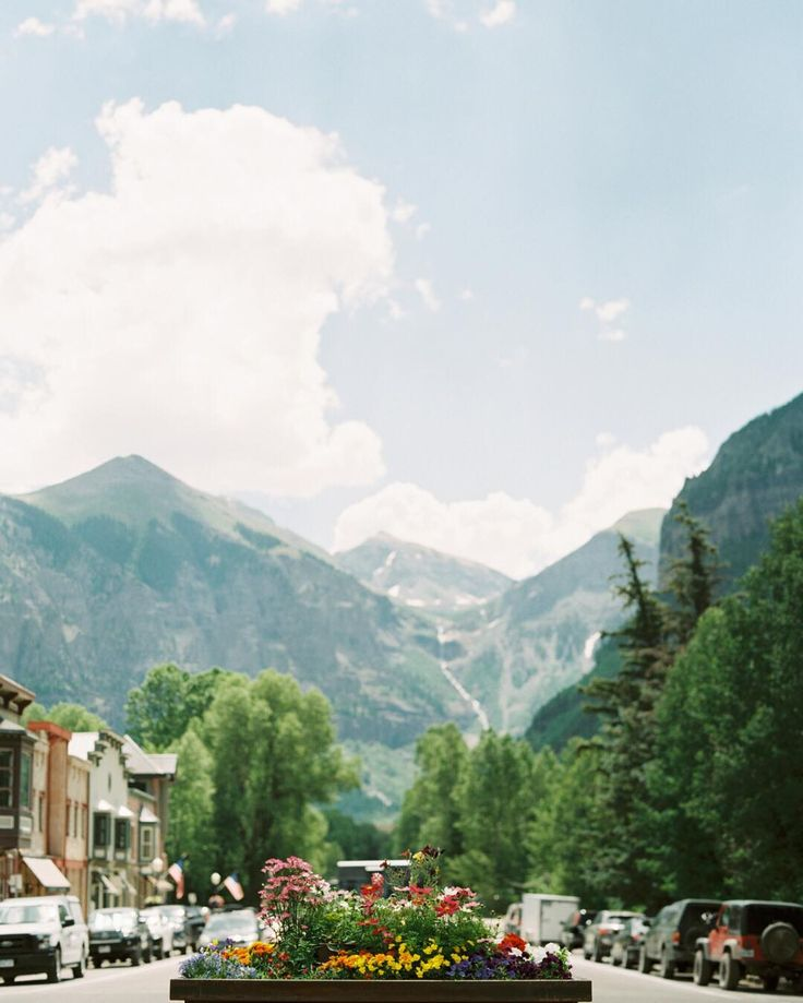 Main Street  . . . . #telluridecolorado #telluride #colorado #tellurideweddingphotographer #contax645 #coloradoweddingphotographer #portra400 #austinweddingphotographer #photovisionprints