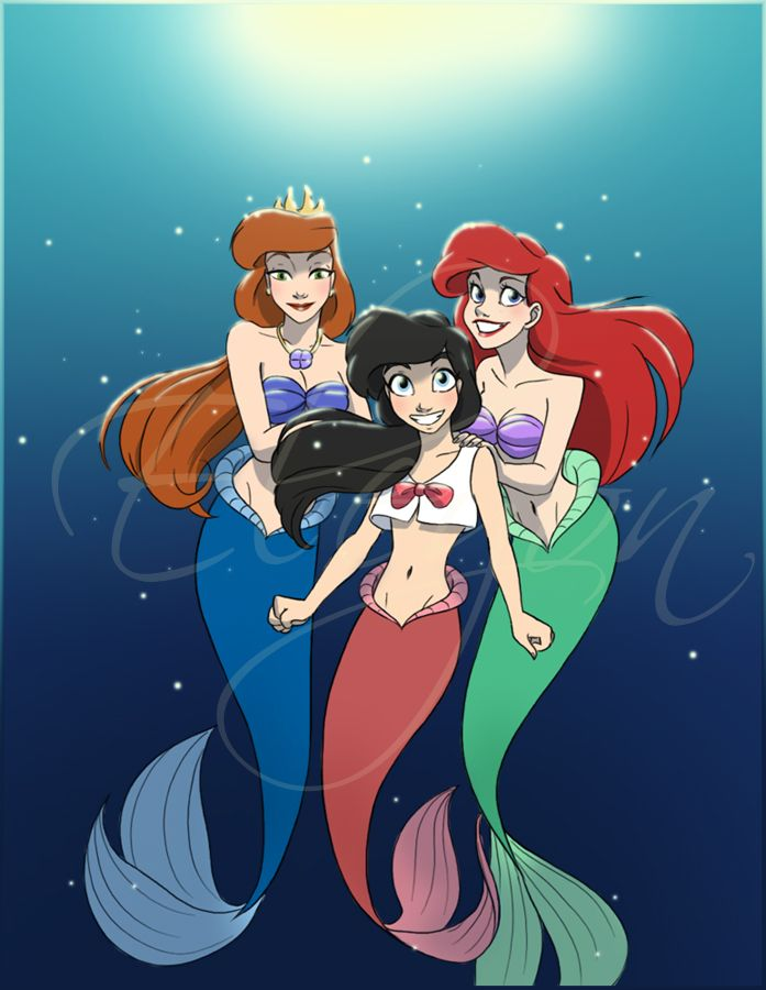 """Athena, Ariel, Melody- No idea who Athena and Melody are.. looks like I have some Disney movie watching to do..."" Woooooow... Athena is Ariel's mom. Melody is her daughter..."