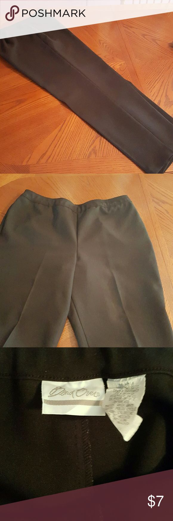 Bend Over from Chadwicks blk dress slacks Black , no iron , permanent crease down leg front, bend overs . The most comfortable slacks you' ll ever wear! Chadwicks Pants Boot Cut & Flare