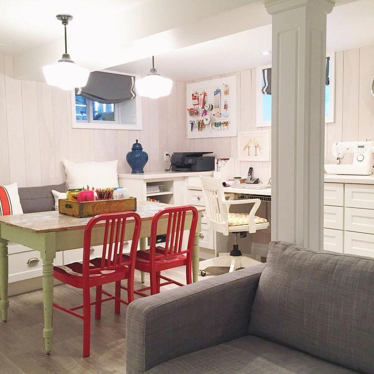 Basement Home Office Craft Room | Ramblingrenovators.ca