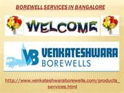 Borewell Services in Bangalore