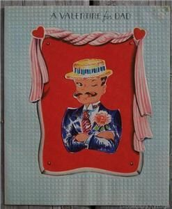 Old 1940-50's Valentines Day for Dad Greeting Card Collectible $2.50 on Bonanza.com
