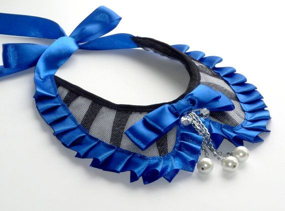 False collar Blue elegant trend 2013 by wandadesign on Etsy, €40.00