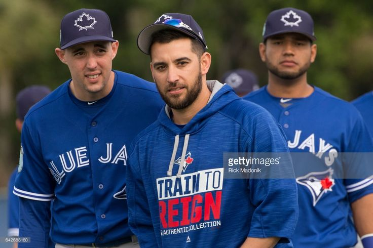 Pitchers Aaron Sanchez (left) and Marcos Estrada (centre) as Lourdes Gurriel follows. Toronto Blue Jays welcome the entire squad today as position players join the pitchers and catchers in Dunedin. Today was the first full workout as they team prepares for the upcoming Grapefruit season at Bobby Mattick Training Centre. Toronto Star/Rick Madonik
