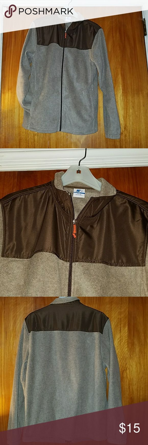 Unisex_Brown zip up hoodie 100% polyester..Excellent condition Jackets & Coats