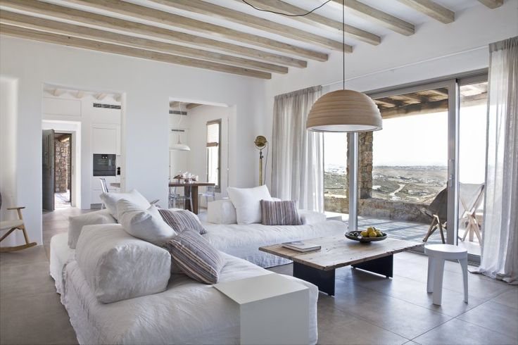 Located 800m away from Ftelia beach, villa Anabel is a newly built property, a true ambassador of contemporary style and elegance. Construction is high-end with applied home automation technology, furniture is chic and classy, balancing perfectly in contrast to the Mykonian landscape. #vacationrentals #villas