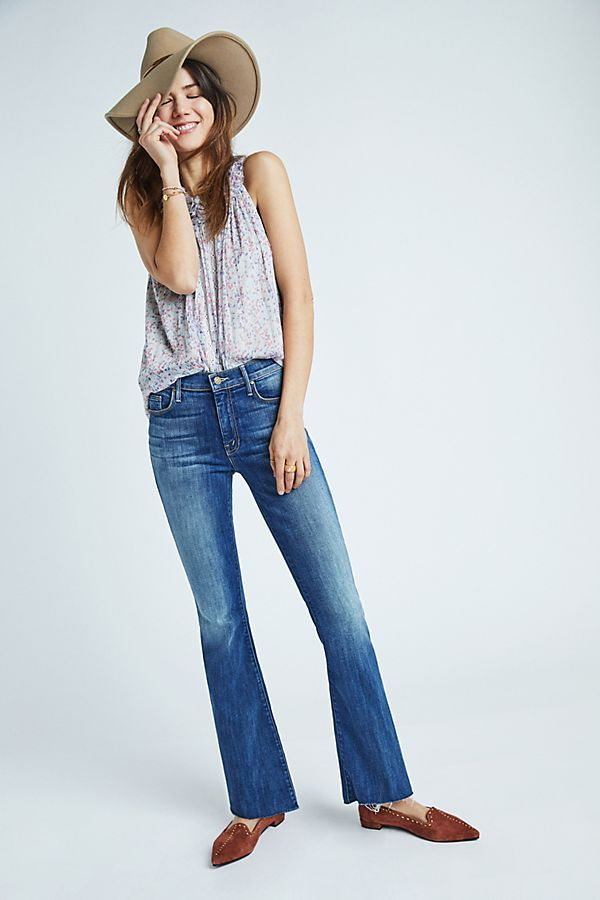 e81ce246fae MOTHER The Weekender Mid-Rise Bootcut Jeans in 2019 | Denim | Jeans ...
