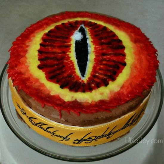One Cake To Feed Them All Lord Of The Rings Eye Of Sauron