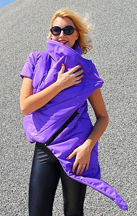 Purple Padded Vest Padded Slicker Vest Asymmetrical Purple https://www.etsy.com/listing/542289252/purple-padded-vest-padded-slicker-vest?utm_campaign=crowdfire&utm_content=crowdfire&utm_medium=social&utm_source=pinterest