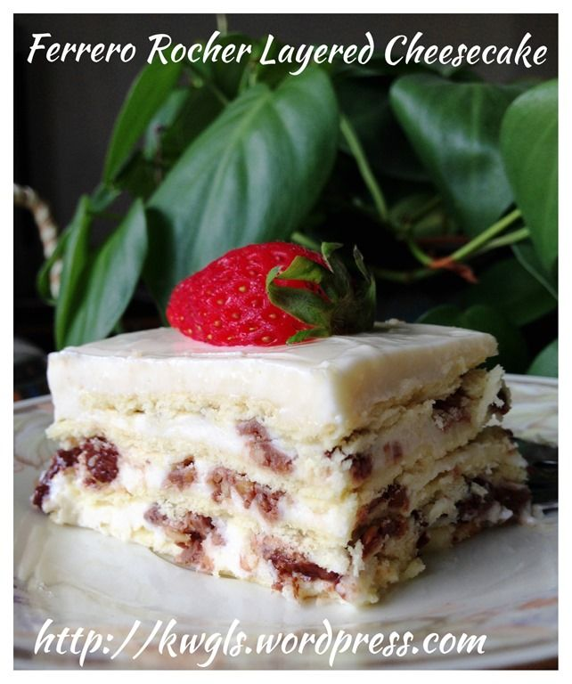 Ferrero Rocher Layered Cheese Cake (金莎千层奶酪蛋糕)  #guaishushu #kenneth_goh   #layered_cheesecake  #biskuit_kek_keju