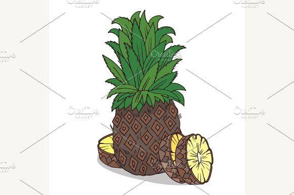 Isolate ripe ananas fruit #isolate