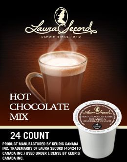 Laura Secord Hot Chocolate K-Cups.  This stuff is super tasty if you like hot chocolate!
