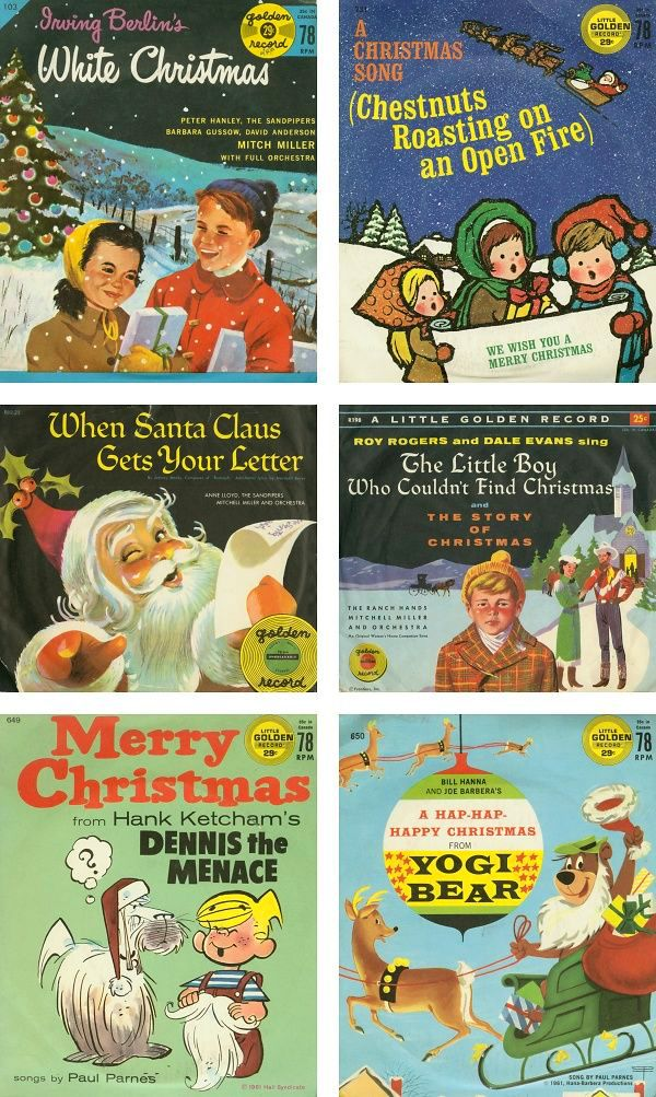 Vintage Christmas Records.