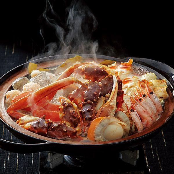 かにと多彩な海の幸がたっぷり。【かにちり海鮮鍋】
