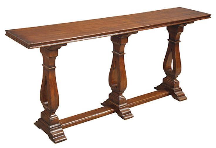 Traditional Console Table Classic Made From Solid Walnut In Medium Finish New #Traditional