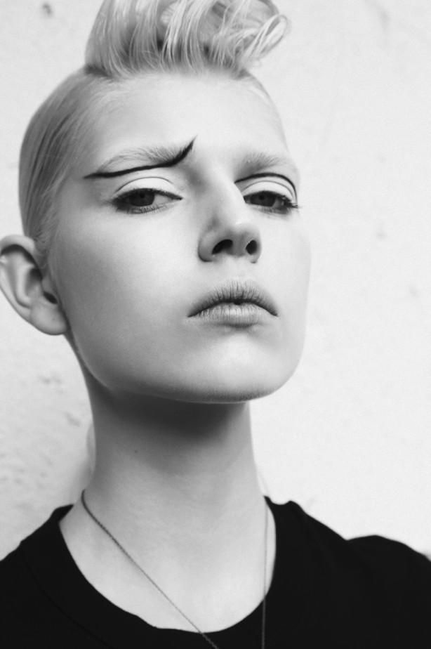 In this picture:  Ola Rudnicka Credits for this picture:  Alice Rosati (Photographer)  Francesca Parise (Fashion Editor/Stylist)  Nori Takabayashi (Hair Stylist)  Anthony Preel (Makeup Artist)