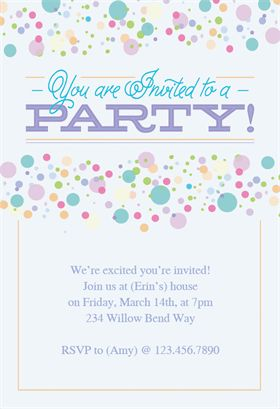 polka dots printable invitation template customize add text and