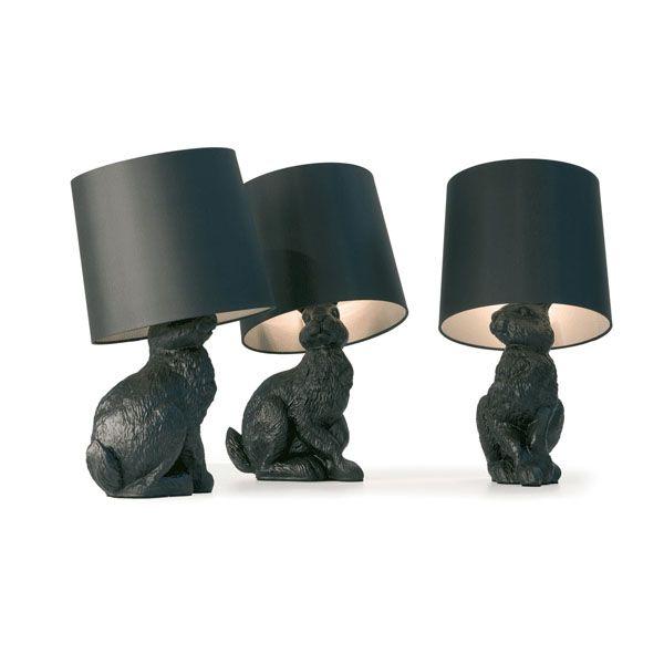 rabbit lampLights, Table Lamps, Bunnies Lamps, Rabbit Lamps, Black Rabbit, Rabbit Tables, Tables Lamps, Design, Moooi Rabbit