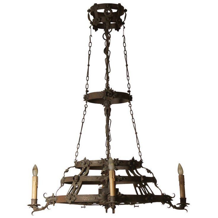 for sale on a huge handmade chandelier obviously made for a house originally for candles later electrified