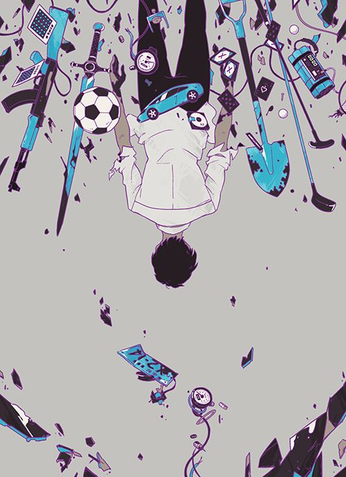 角川書店『ブレーキ』(著:山田悠介) 装画I drew the cover illustration for the novel by Yusuke…