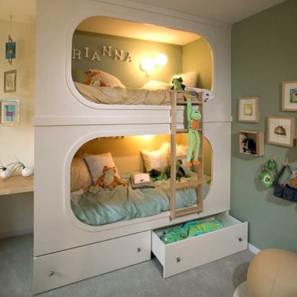 Great idea!: Child Room, Kids Beds, Kids Bedrooms, For Kids, Bunk Beds, Beds Design, Girls Rooms, Kids Rooms, Built In Bunk