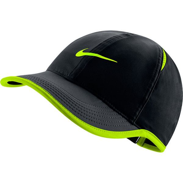 Play your next match in style with the Nike Women's Featherlight Tennis Cap. Breathable mesh inserts work together with the Dri-FIT technology to wick away sweat so you're dry and comfortable. The adjustable back closure provides a custom, secure fit. The exclusive and recognizable Nike swoosh logo appears front and center on this cap for a class, tennis style.