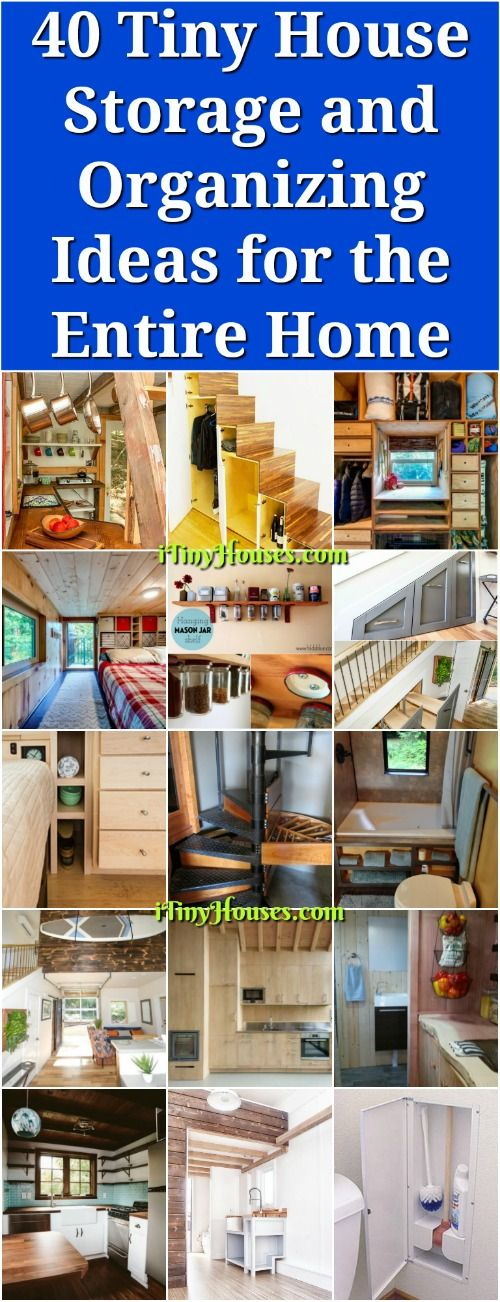 40 Tiny Home Storage and Organizing Concepts for the Whole Residence – Tiny home livi…