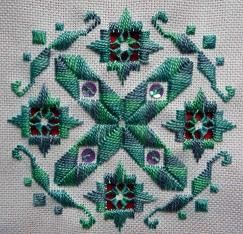 Mary Joan Stitching: Hardanger Gallery. A Nordic Needle Freebie Design. Can be found here:http://www.nordicneedle.net/swag/.