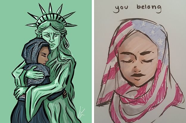 Here Are 21 Cartoons People Are Sharing In Response To Trump's Refugee Ban - BuzzFeed News