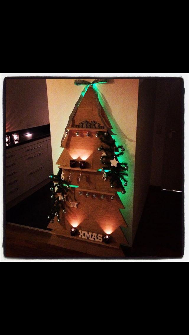 Zelfgemaakte kerstboom
