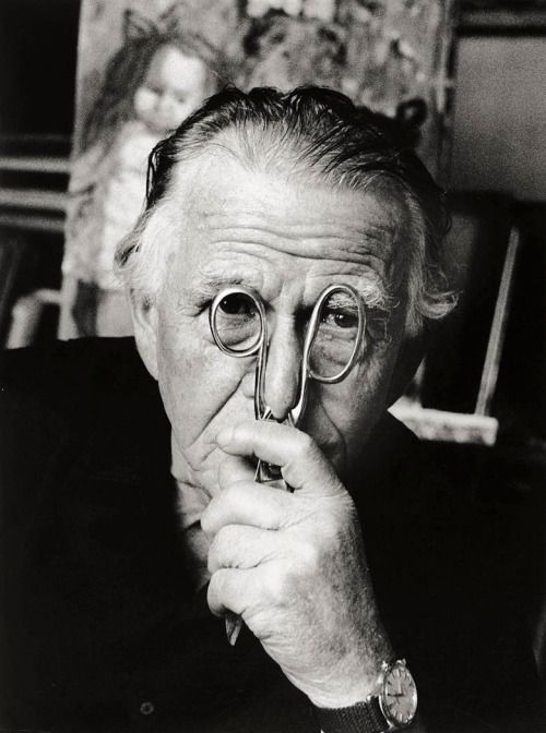 Otto Dix (1891-1969) - Germain painter and printmaker. Photo by Stefan Moses, 1964