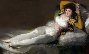 """""""La maga vestida"""" de Goya."""