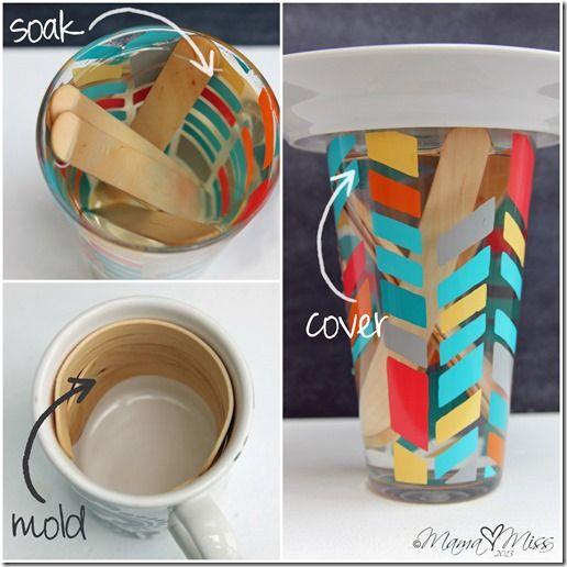 Washi Tape How to / Tutorial Washi Tape Wooden Bracelets - Mama Miss