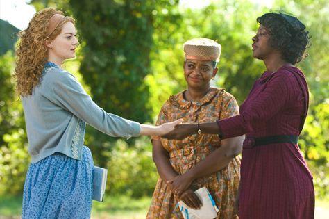 Histórias Cruzadas/The Help, com Emma Stone e Viola Davis. Filmes com mulheres fortes.