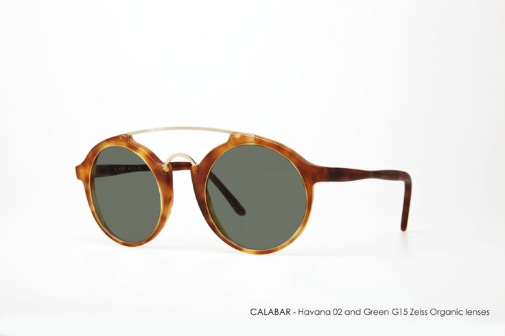CALABAR in Havana 02 and Green G15 Zeiss Organic lenses