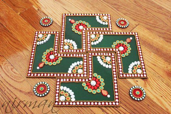 handmade #rangoli - #DIY diwali #decoration #ideas