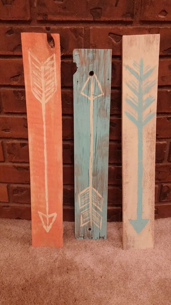 Decorative Arrow signs. Custom design your own now at MadisonHoller on Etsy. Only $7.00!