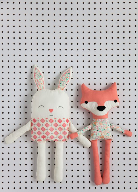 DIY: Simplicity pattern fox and rabbit plush soft toy