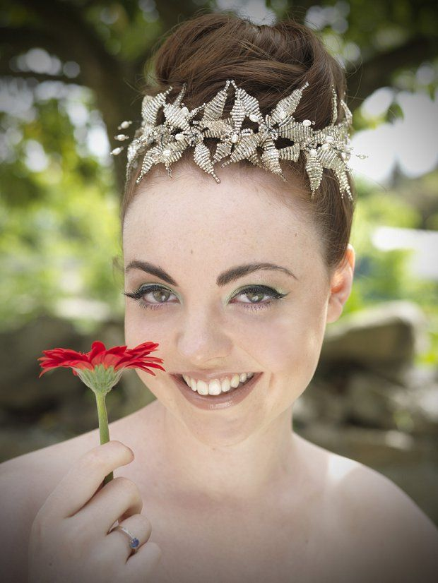 Gold lily beaded hair pins http://www.staceyhannandesigns.com/a-selection-of-gold-lily-flower-wedding-hair-pins/