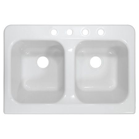 Update the heart of your home in sleek style with this double farmhouse sink, perfect for rinsing dinner dishes and filling stockpots.