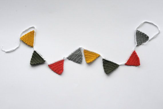 Happy Crochet Bunting / garland. Time to party. Instant by ROEST, €12.50
