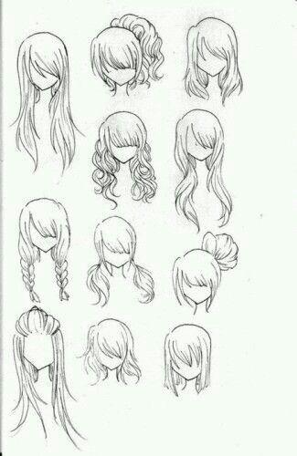 easy hairstyle drawings