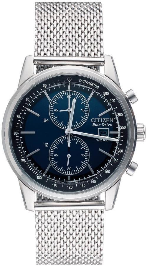 Citizen Eco-Drive Mesh Chronograph Bracelet Mens Watch