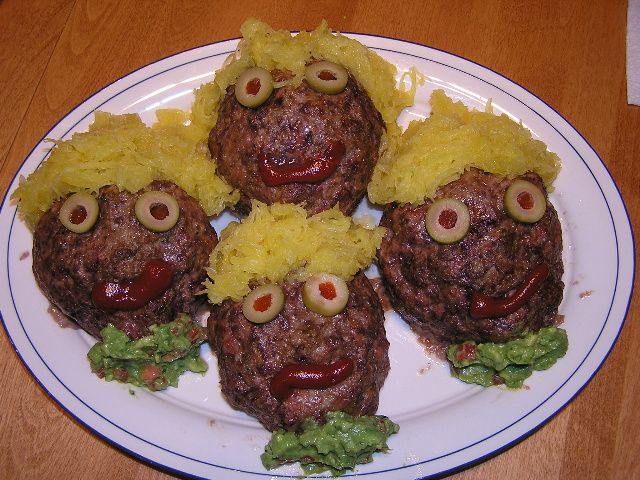 low carb halloween recipes cute or scary - Scary Halloween Meatballs