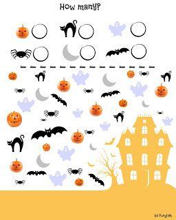 http://waytomasterenglish.blogspot.com/2015/10/garsc-pomysow-na-halloween.html  Halloween, I spy with my little eye , picture, poster, exercise, worksheet, kids, Halloween words