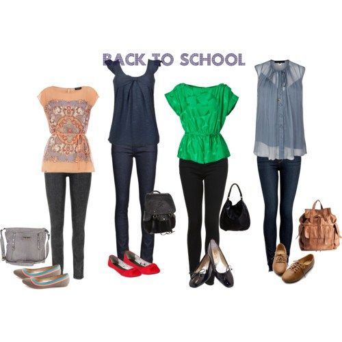 Cute Jean Outfits Ideas | Back to school outfits. College Students | Fashion Fink