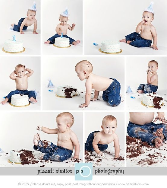 Cake smash - record that first experience of your LO confronting their birthday cake for the first time.