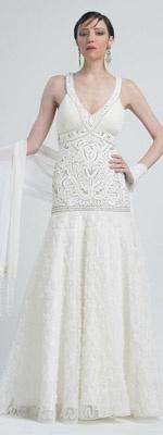 Sue Wong   | More here: http://mylusciouslife.com/1920s-wedding-theme-ideas-dresses-headpieces-part-2/