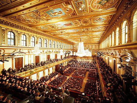 Generalprobe zum Neujahrskonzert 2013 der Wiener Philharmoniker am Sonntag, 30. Dezember 2012, im Wiener Musikverein