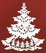 Fensterbild Tanne mit Engel Holz Deko Weihnachten